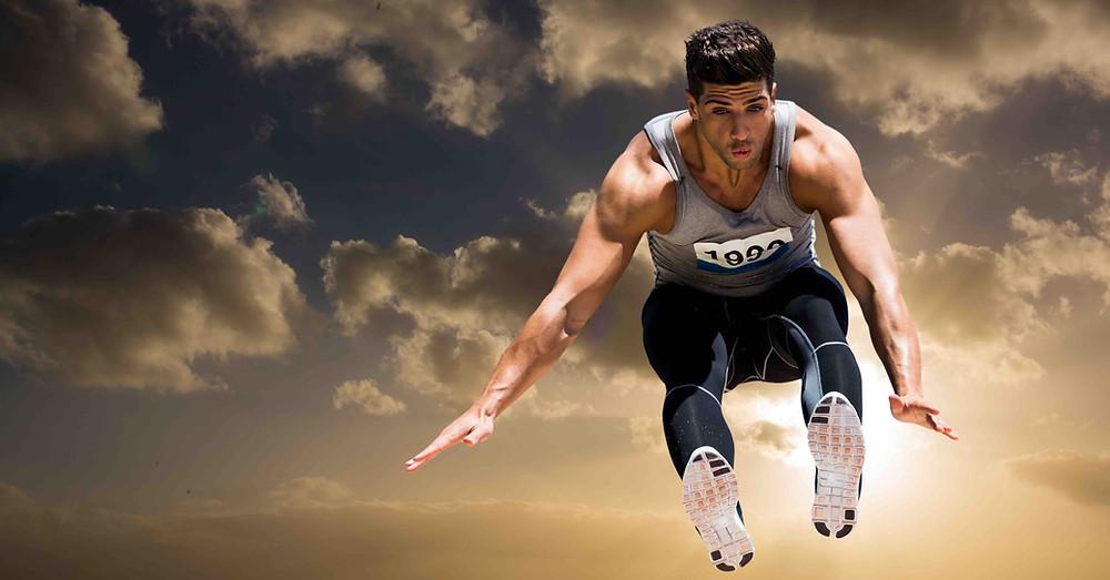 atleta de salto profissional