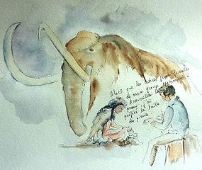 préhistoire; mammouth; silex; Brassempouy