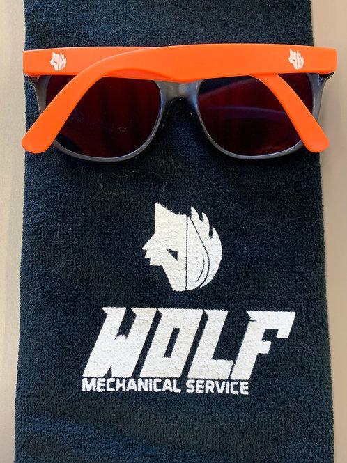 Orange Wolf Sunglasses