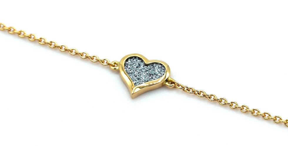Armband Amour - Roségold, Platin