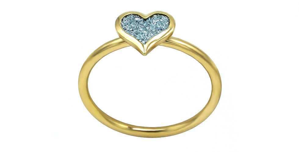 Ring Amour - Gelbgold, Roségold, Platin