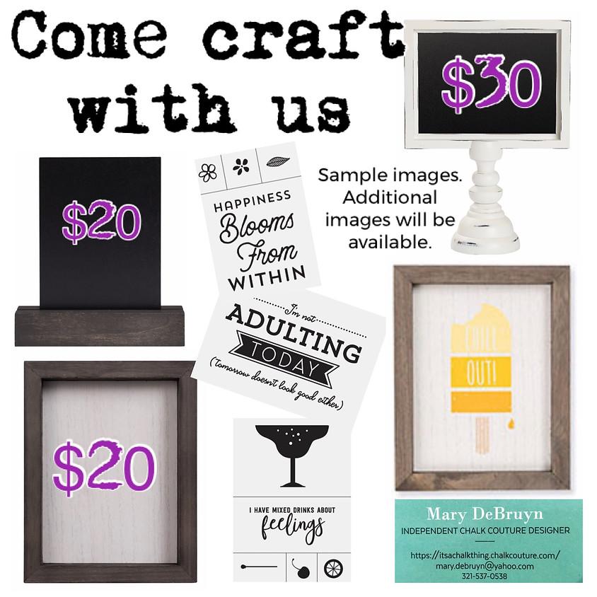 Make Crafts, Drink Crafts