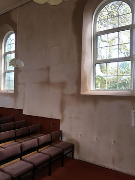 Gloweth Chapel, plastering, simming, church renovation, plaster drying out, Truro skimming, Truro plastering