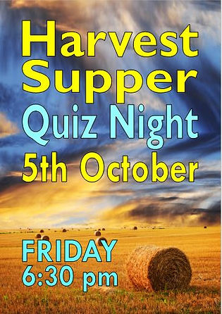 Harvest Supper, Harvest Sky, Gloweth Chapel, Quiz Night