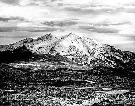 Mountain Sopris,Carbondale Black and White