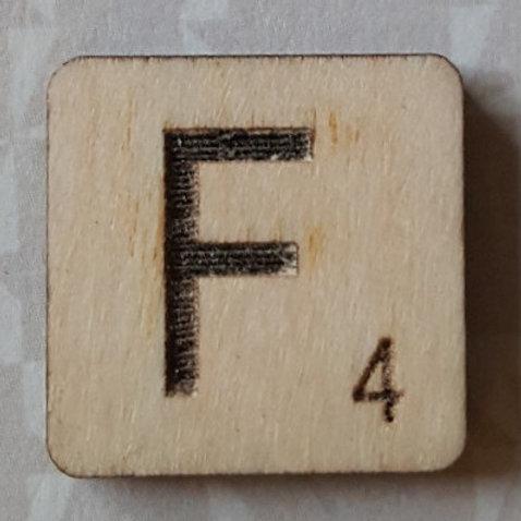 Letter F Scrabble Tile