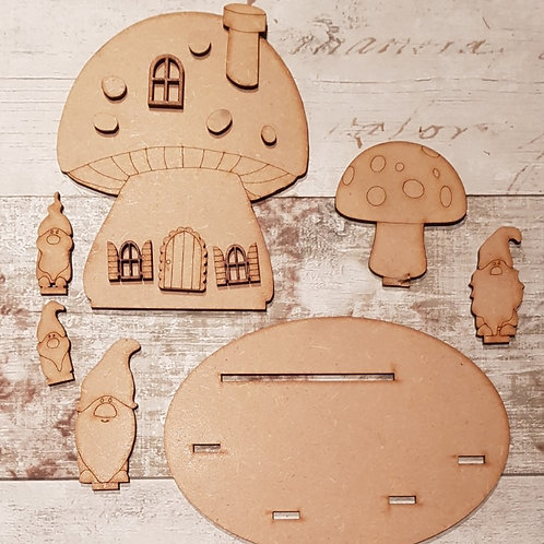Gnome Toadstool House Kit