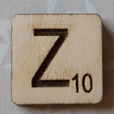 Letter Z Scrabble Tile