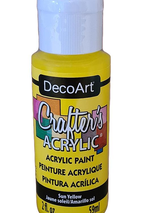 Sun Yellow Acrylic Paint