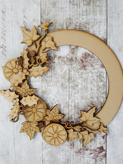 Spiced Orange Xmas Wreath craft kit