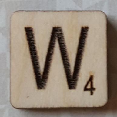 Letter W Scrabble Tile