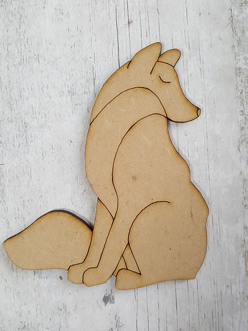 Laser cut fox made from 3.6mm MDF