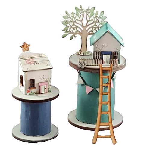 Set of 2 Bobbin Houses