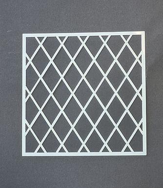 Small Diamond Trellis Stencil