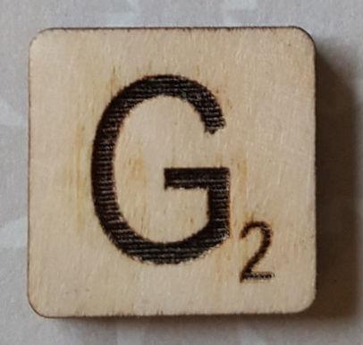 Letter G Scrabble Tile