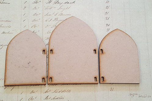 Laser cut Triptych 3 small kit in 3.6mm MDF
