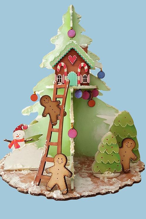 3D Winter Tree House