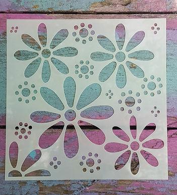Hippy Flower Stencil