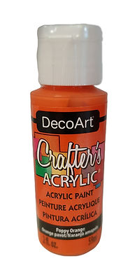 Poppy Orange Acrylic Paint