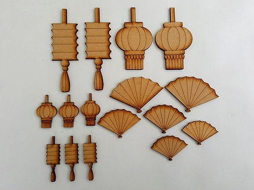 Japanese Fans and Lanterns