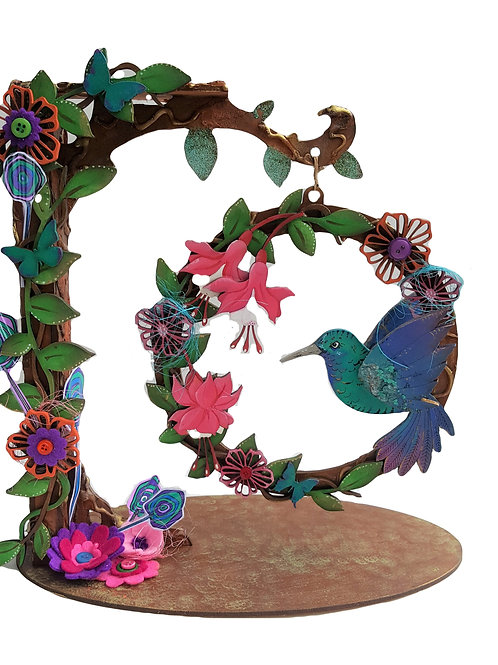 Hummingbird Hoop Stand