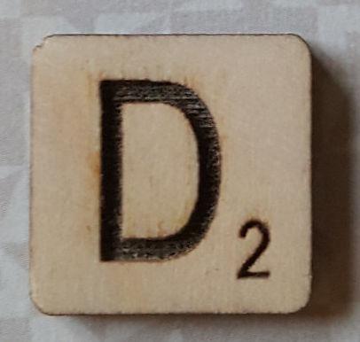 Letter D Scrabble tile