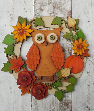 Autumn Owl Wreath