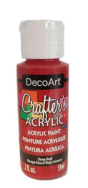 Deep Red Acrylic Paint