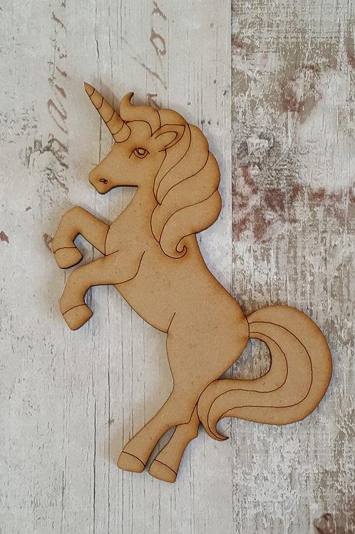 Laser cut unicorn made from 2mm MDF medium size