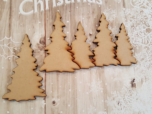 MDF Snowy trees for crafting and altered art projects