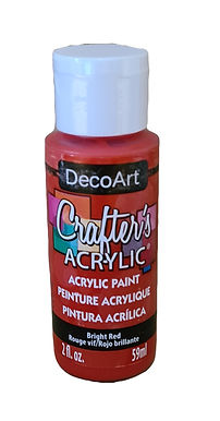 Bright Red Acrylic Paint