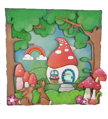 Toadstool Woodland Plaque