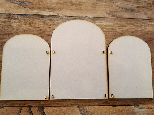 Laser cut Triptych 2 large kit in 6mm MDF