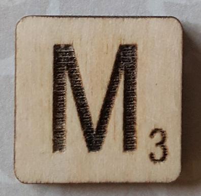 Letter M Scrabble Tile