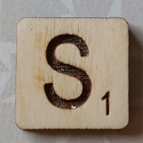 Letter S Srabble Tile