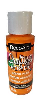 Bright Orange Acrylic Paint