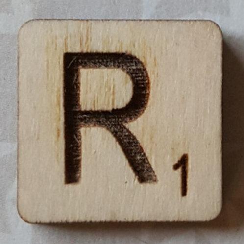 Letter R Scrabble Tile