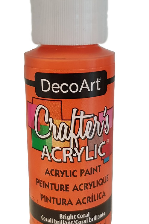 Bright Coral Acrylic Paint