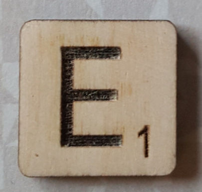 Letter E Scrabble Tile