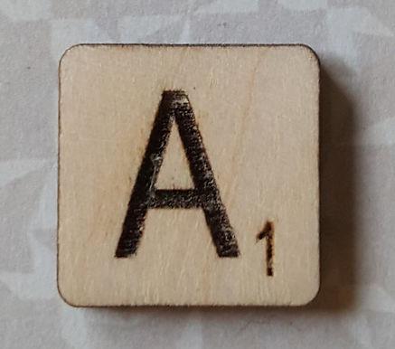 Letter A Scrabble Tile