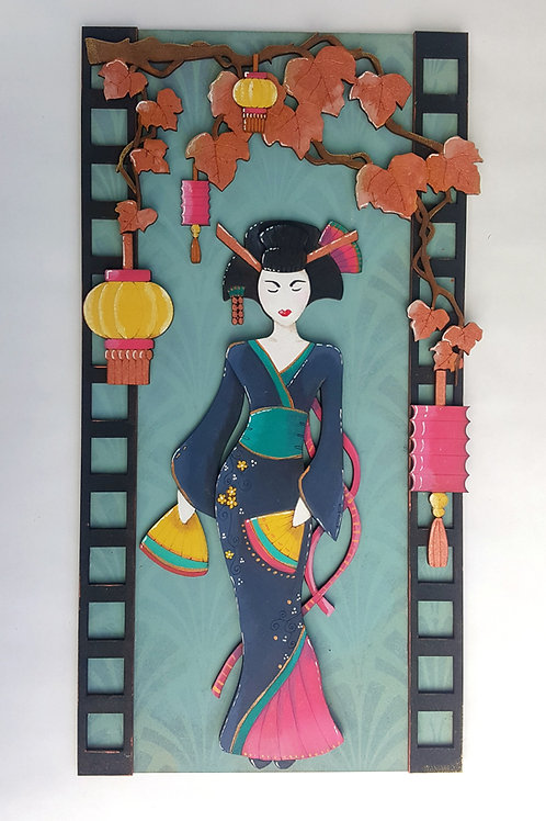 Japanese Lady Plaque