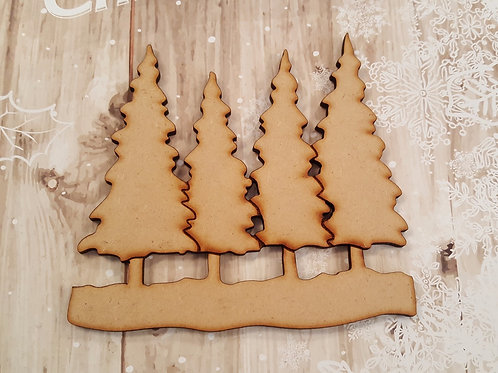 MDF Snowy Xmas Trees for crafting and altered art projects.