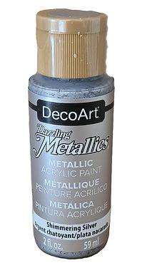 Shimmering Silver Metallics Acrylic Paint