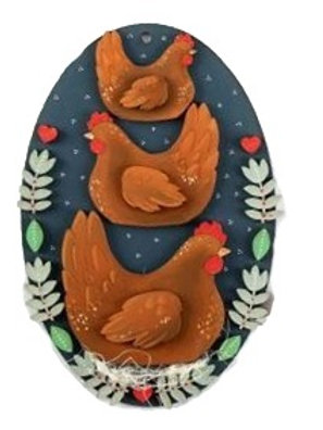 French Hens Plaque
