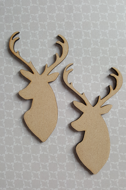 Pair of Stag heads