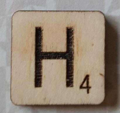 Letter H Scrabble Tile