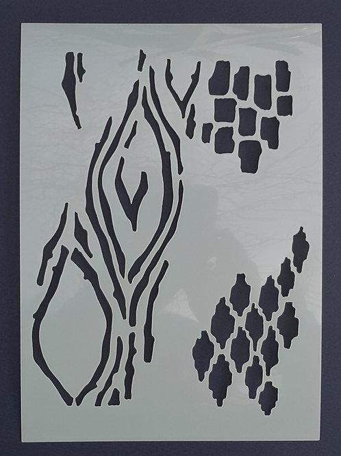 Woodland Texture Stencil