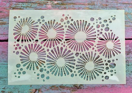 Coral Flowers Stencil