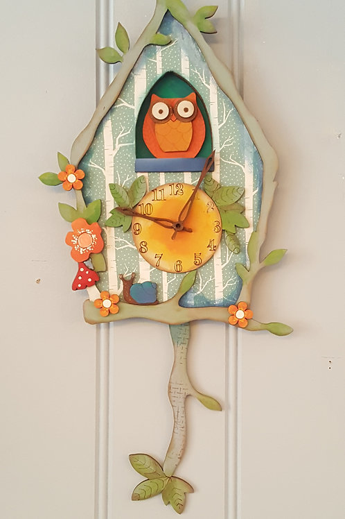 Owl Cuckoo Clock Plaque