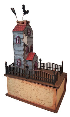 3D Spooky House and Spell Book